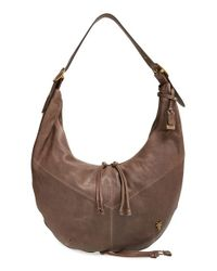 Frye | Brown Belle Leather Hobo Bag  | Lyst