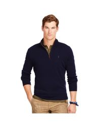 Polo Ralph Lauren | Blue Merino V-neck Elbow Patch Cardigan for Men | Lyst