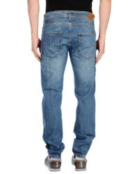 Liu Jo - Blue Denim Trousers for Men - Lyst
