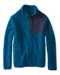 Aéropostale | Blue Sherpa Fleece Zip Jacket | Lyst