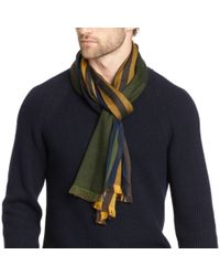 COACH - Green Bar Stripe Scarf for Men - Lyst