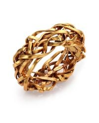 Oscar de la Renta - Metallic Ribbon Bangle Bracelet - Lyst