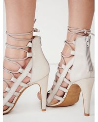 Free People | Gray Sixty Seven Womens Dusk To Dawn Lace Up Heel | Lyst