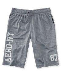 Aéropostale | Gray Aero-ny 87 Mesh Shorts | Lyst