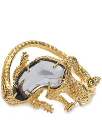 Alexander McQueen - Metallic Salamander Bracelet - Lyst