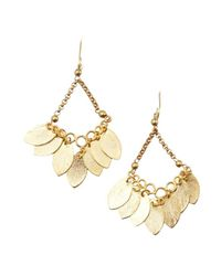 Wendy Mink - Metallic Gold Leaf Cluster Chandelier Earrings - Lyst