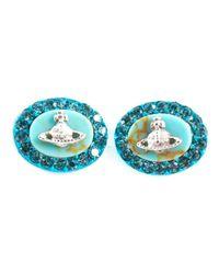 Vivienne Westwood - Blue 'Giselle' Earrings - Lyst