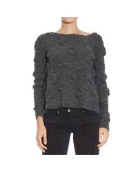 Manila Grace - Gray Sweater - Lyst