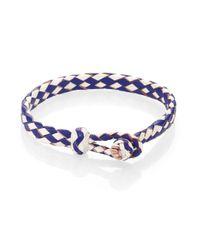 Chamula | Blue Woven Leather Bracelet | Lyst