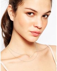 Dogeared - Metallic Sterling Silver The Romantic Pearl Double Chain Reminder Necklace - Lyst
