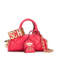 Moschino - Red Quilted Tote - Lyst