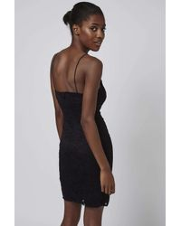 TOPSHOP | Black Tall Floral Lace Bodycon Dress | Lyst