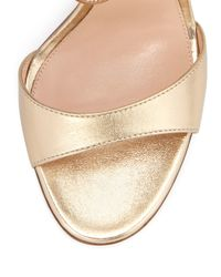 Gianvito Rossi - Ankle-Wrap Metallic Sandals - Lyst