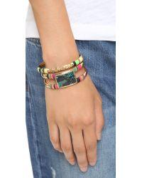 Gas Bijoux - Metallic Massai Snakeskin Bracelet - Gold Multi - Lyst