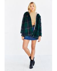 BB Dakota | Green Kellen Plaid Sherpa-hood Jacket | Lyst