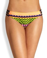 MILLY | Multicolor Lanai Raffiaprint Bikini Bottom | Lyst