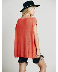 Free People | Orange Womens Easy Tea V-neck Sweater | Lyst