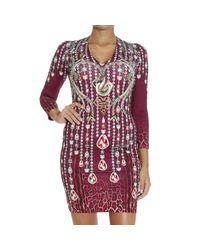 Just Cavalli   Purple Dress   Lyst