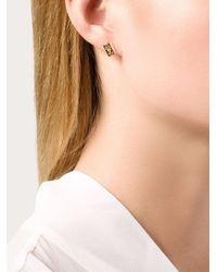 Alison Lou | Metallic Bar Of Gold Stud Earrings | Lyst