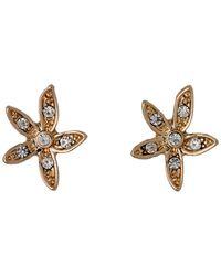 Pilgrim - Metallic Rose Gold Crystal Earrings - Lyst
