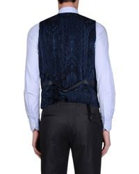 Etro - Blue Waistcoat for Men - Lyst