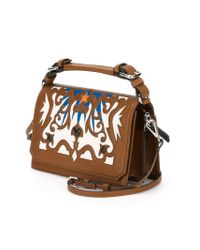 MSGM | Brown Wester Leather Cross-Body Bag | Lyst
