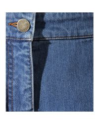 Valentino - Blue Denim Dungaree Shorts - Lyst