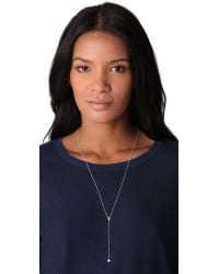 Jacquie Aiche - Metallic Ja Bezels Rosary Necklace Silver - Lyst