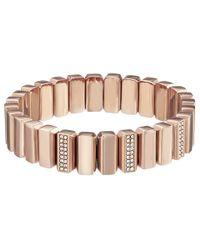Fossil | Metallic Metal Bead Stretch Bracelet | Lyst