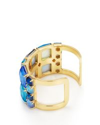 kate spade new york - Blue Swan Dive Wide Cuff - Lyst