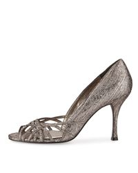 Adrianna Papell - Brown Fallon Strappy Open-toe Evening Pump - Lyst