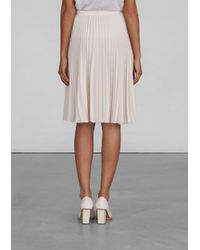 & Other Stories - Natural Pleated Skirt - Lyst