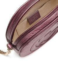 Gucci - Purple Soho Metallic Leather Mini Chain Bag - Lyst