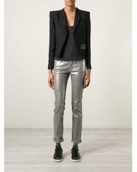 Zadig & Voltaire - Metallic Skinny Five Pocket Trousers - Lyst
