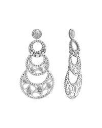 Lagos - Metallic Sterling Silver Voyage Small 3-Hoop Floral Earrings - Lyst