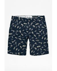 French Connection | Blue Jets Sons Peach Pie Kent Shorts for Men | Lyst