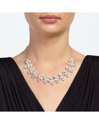 John Lewis - Metallic Faux Pearl Flower Collar Necklace - Lyst