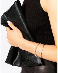Lipsy | Metallic Fleur East By Pave Set Cuff Bracelet | Lyst