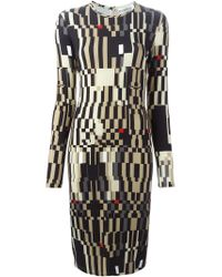 Givenchy - Natural Colour Block Sheath Dress - Lyst