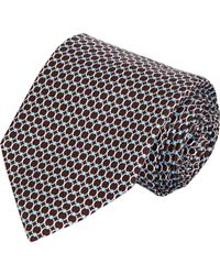 Barneys New York - Blue Circle-Print Neck Tie for Men - Lyst