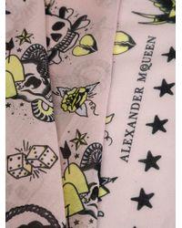 Alexander McQueen   Pink Skull Tattoo Foulard   Lyst
