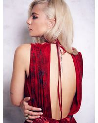 Free People - Red Leather Goddess Gown - Lyst