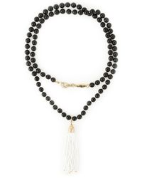 Rosantica | Black Fringe Pendant Beaded Necklace | Lyst