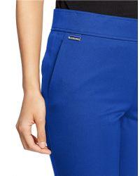 Lauren by Ralph Lauren - Blue Cropped Stretch-cotton Leggings - Lyst
