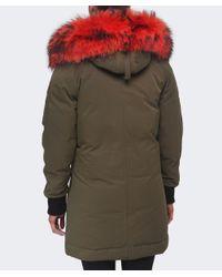 KENZO | Natural Fur Trim Parka | Lyst