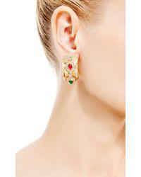 House of Lavande - Red Christian Dior Clip On Hoop Earrings - Lyst