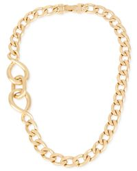 Kenneth Cole - Metallic Gold-tone Twisted Link Necklace - Lyst