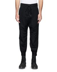 The Viridi-anne - Black Pleat Front Crop Pants for Men - Lyst