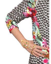 Manish Arora | Metallic Bruna Gold Plated Hand Bracelet | Lyst