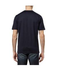 Dunhill - Blue Cotton-Jersey T-Shirt for Men - Lyst